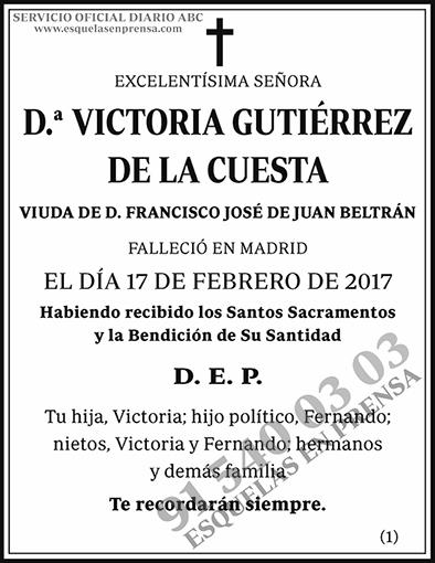 Victoria Gutiérrez de la Cuesta